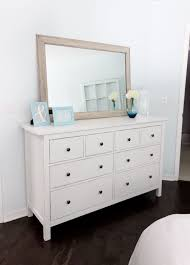 distressed mirrored furniture. Diy White And Slightly Distressed From Jenna Sue Ikea Hemnes Mirrored Nightstand Hack Dresser Step Instructions Furniture