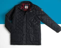 a black padded mens l jacket