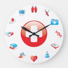 Wall clock for office Digital Doctor Profession Medical Office Wall Clock Zazzle Medical Office Wall Clocks Zazzle