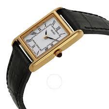seiko gold tone black leather strap las watch sxgn42
