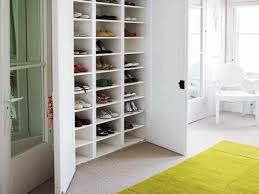 saveenlarge simple wall mounted hanging shoe storage in closet ideas