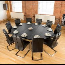 Large Oak Dining Table Seats 10 Large Oval 18x23m Dark Black Oak Dining Table 10 Deep Black
