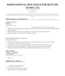 Objective For Housekeeping Resumes Housekeeping Resume Sample Sample Resume For Housekeeping Supervisor