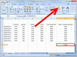 college selection spreadsheet how to budget college tuition and loans using excel 10 steps