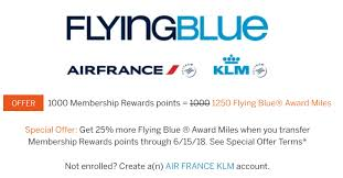 Air France Flying Blue Award Chart 25 Bonus On American Express Transfers To Air France Klm