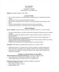 Personal Resume Enchanting Custodian Resume Examples Data On Custodian Resume Writing And