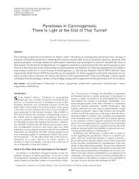Pdf Paradoxes In Carcinogenesis There Is Light At The End
