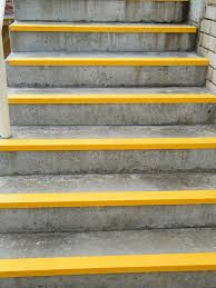 exterior stair treads and nosings. marvellous stair tread nosing exterior yello and grey stairs: amazing treads nosings