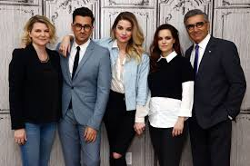 tv shows 2016 comedy. daniel levy, annie murphy, emily hampshire and eugene levy attend aol build presents \u0027schitt\u0027s creek\u0027 at studios on march 16, 2016 tv shows comedy