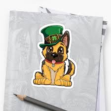 german shepherd leprechaun t shirt st patricks day dog gifts by liquegifts