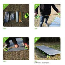 high quality brs mc1 ultralight portable aluminium alloy outdoor camping cot camp folding tent bed office lunch break bed camp bed office