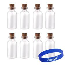 get ations package of 24 small mini glass jars with cork stoppers size 1 1
