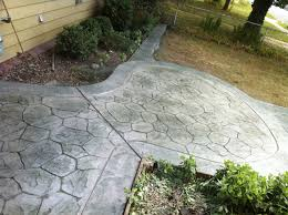 Best Mix Design For Stamped Concrete Stamp Concrete Random Stone Gray Blue Mix With A Seemless