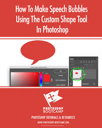 Photoshop Speech Bubble How To Make Speech Bubbles Using The Custom Shape Tool In