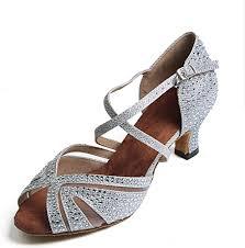 Syrads Women's Ballroom <b>Latin Dance</b> Shoes with <b>Rhinestones</b> ...