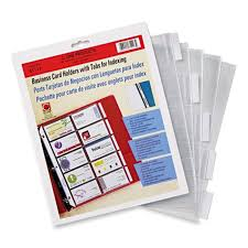 C Line Business Card Refill Pages Clear 5 Pack Quickshipcom