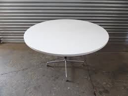 white round meeting room table vitra frame