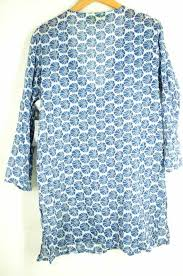 Rock Paper Flower Tunics Rock Flower Paper Rock Flower Paper Tunic Dress Ladys Blue System Import M Whole Pattern Dress