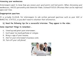 The Do S And Don Ts Of An Interview Job Interview Dos And Donts Video Activity