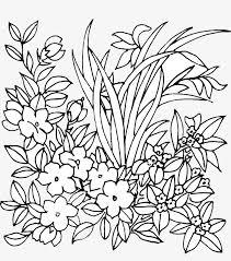 無料ダウンロードのための花のライン図 花の適量 植物抽象パターン 花卉