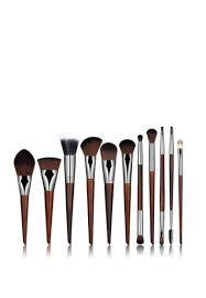 brush works brown 11 pieces rosewood makeup brush set 5b77cbe36d35e4gs 1