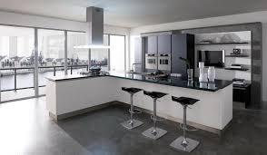 kitchen modern granite. Exquisite Modern Open Kitchen Design With Black Granite Countertop Backsplash Including Bar Stools Ideas