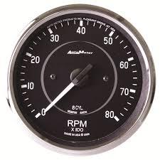 4 in dash tachometer 0 8 000 rpm cobra