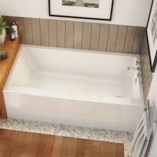 maax rubix 6632 ifs afr rectangular soaking bathtub in alcove installation right hand drain 66 x 32
