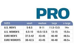 Yaktrax Pro Size Chart Sizing Chart Best Walking Shoe Reviews