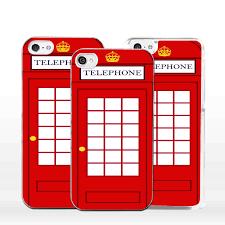 Cover custodia cabina telefonica inglese per iphone 4 5 6 7 s c se