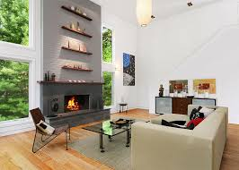 design idea for above a fireplace stack the shelves