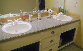 diy painted bathroom vanity countertop