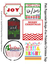 FREE Christmas Gift Tags  8 Printable Designs  Classy ClutterChristmas Gift Tag Design