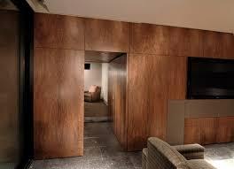 hidden wall door. walnut wall with hidden door contemporary t