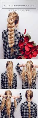 Easy Quick Hairstyles 86 Amazing Pull Through Braid Hair Tutorial Kassinka Pinterest Windsor
