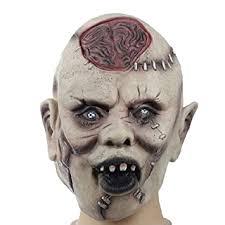 Buy Toyvian <b>Halloween Masks</b> Costume   Latex <b>Scary</b> Zombie Brain ...