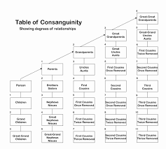 Link Seal Chart Best Of Consanguinity Example Design Home