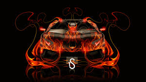 lamborghini aventador j fire abstract car