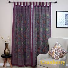 handmade 100 cotton sunflower fl tab top curtain d door panel navy blue gray yellow black red 44x88 inches blue size 44 x 88