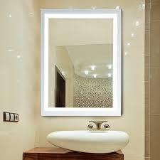 Wall Mirror With Lights Led Illuminated Bathroom Wall Mirrors With Lights Modern Makeup Vanity Mirror