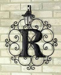 metal wall hangings for outdoors metal monogram solar light wall art hanging decor frame letters metal on outdoor metal wall hanging with metal wall hangings for outdoors metal monogram solar light wall art