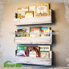 Homemade Magazine Holder Stunning Vintage Wooden Paint Display RackRustic Wall Mount Book Shelf