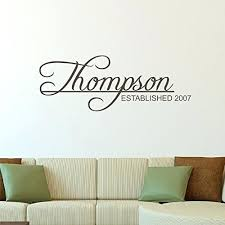 last name wall decor custom name girls boys wall decal monogram personalized name wall decal sticker