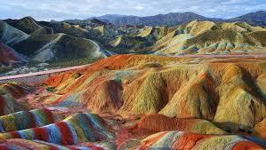 جبال دانكسيا الملونة فى الصين | 3lafkra