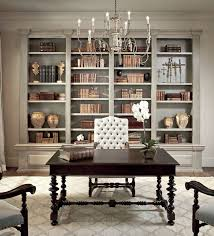 chic office furniture. dining room idea denslibrariesoffices sherwin williams ermine chic elegant french office with tan walls paint color distressed gray builtins furniture