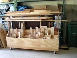 garage workshop layout. left side of the garage, showing furnace \u0026 water heater, trash bins, and my lumber cart with gorilla racks behind. didn\u0027t leave room for much else unless i garage workshop layout