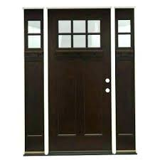 6 panel exterior door with glass front architect series entry p