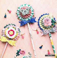 Paper Rosette Flower Crate Paper Rosette Paper Wands Tutorial Creative Findings