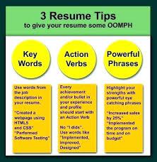 Resume Words List Action Words List Federal Resume Keywords List