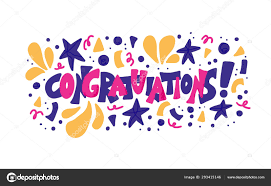 Word For Congratulations Congratulations Quote Vector Concept Desing Word Stock